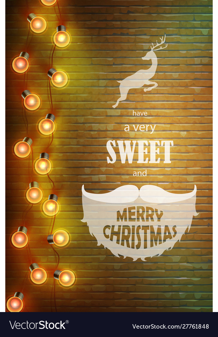 Christmas composition on brick background with