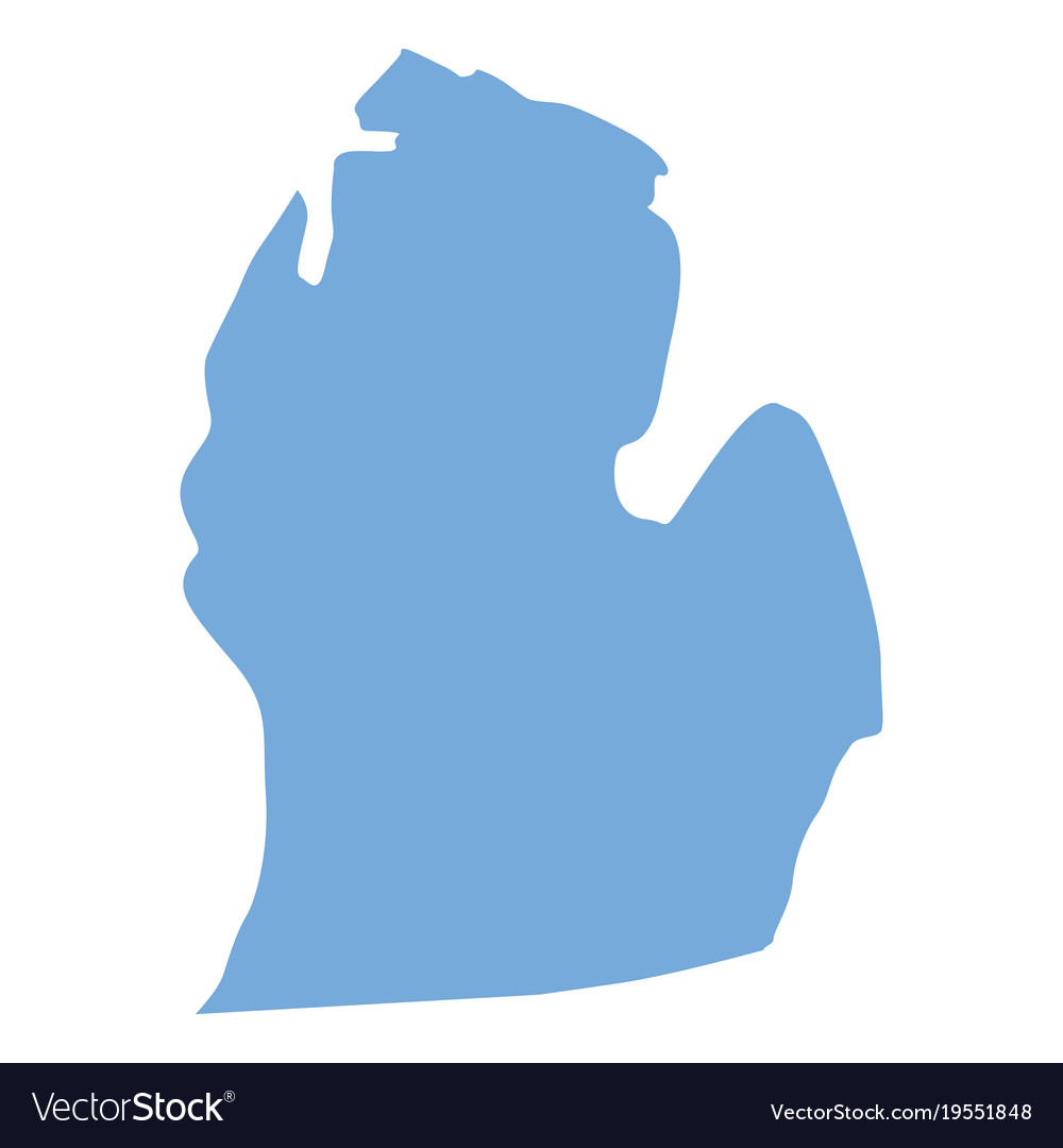Michigan Map Of State.Michigan State Map Royalty Free Vector Image Vectorstock