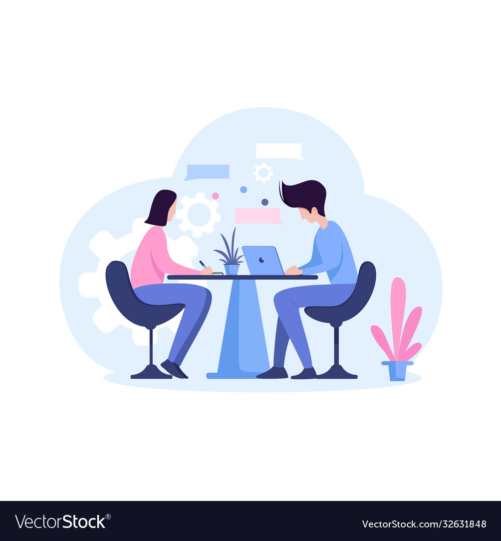 Office work helping each others