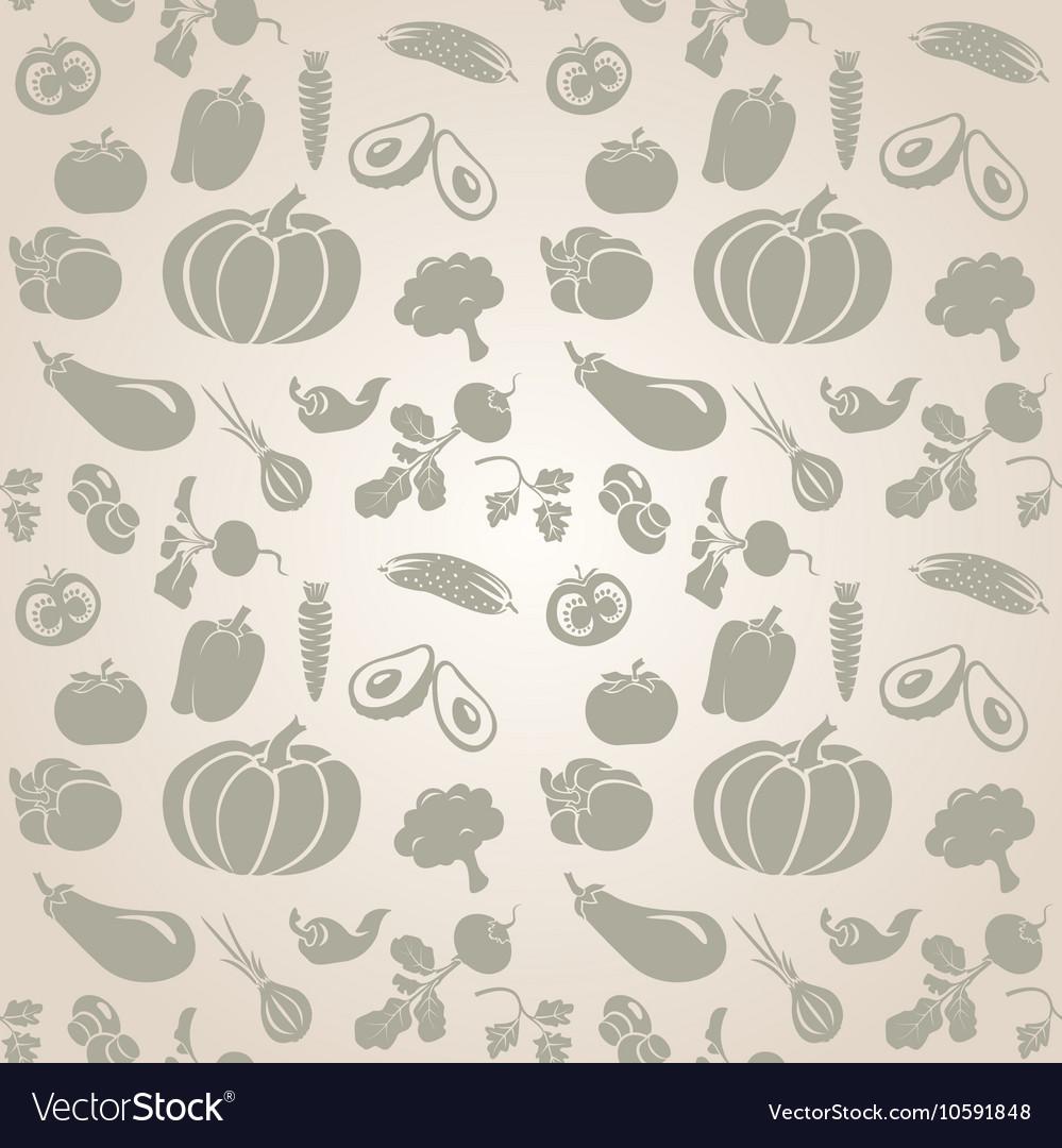 Set of vegetables Seamless