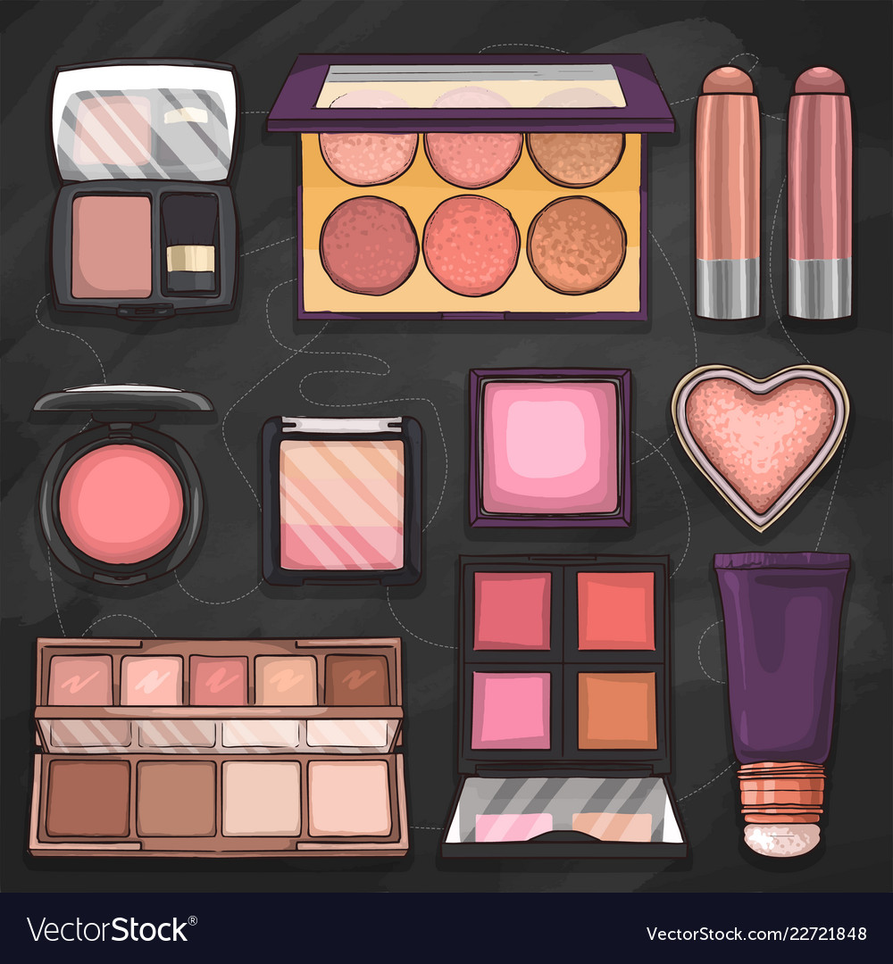 Sketch set of makeup products