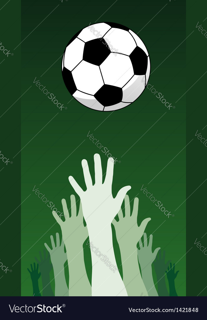 Soccer ball and hands