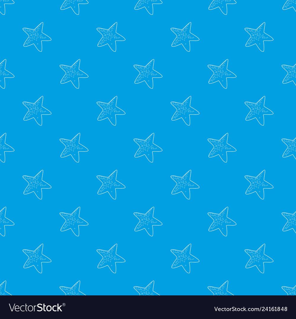 Starfish pattern seamless blue