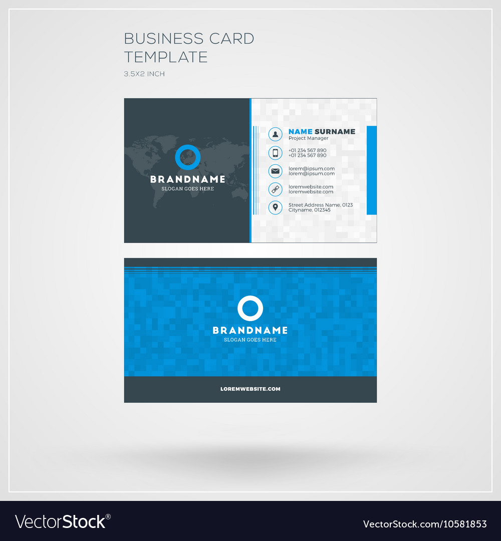 Business card print template personal visiting vector image on vectorstock cheaphphosting Images