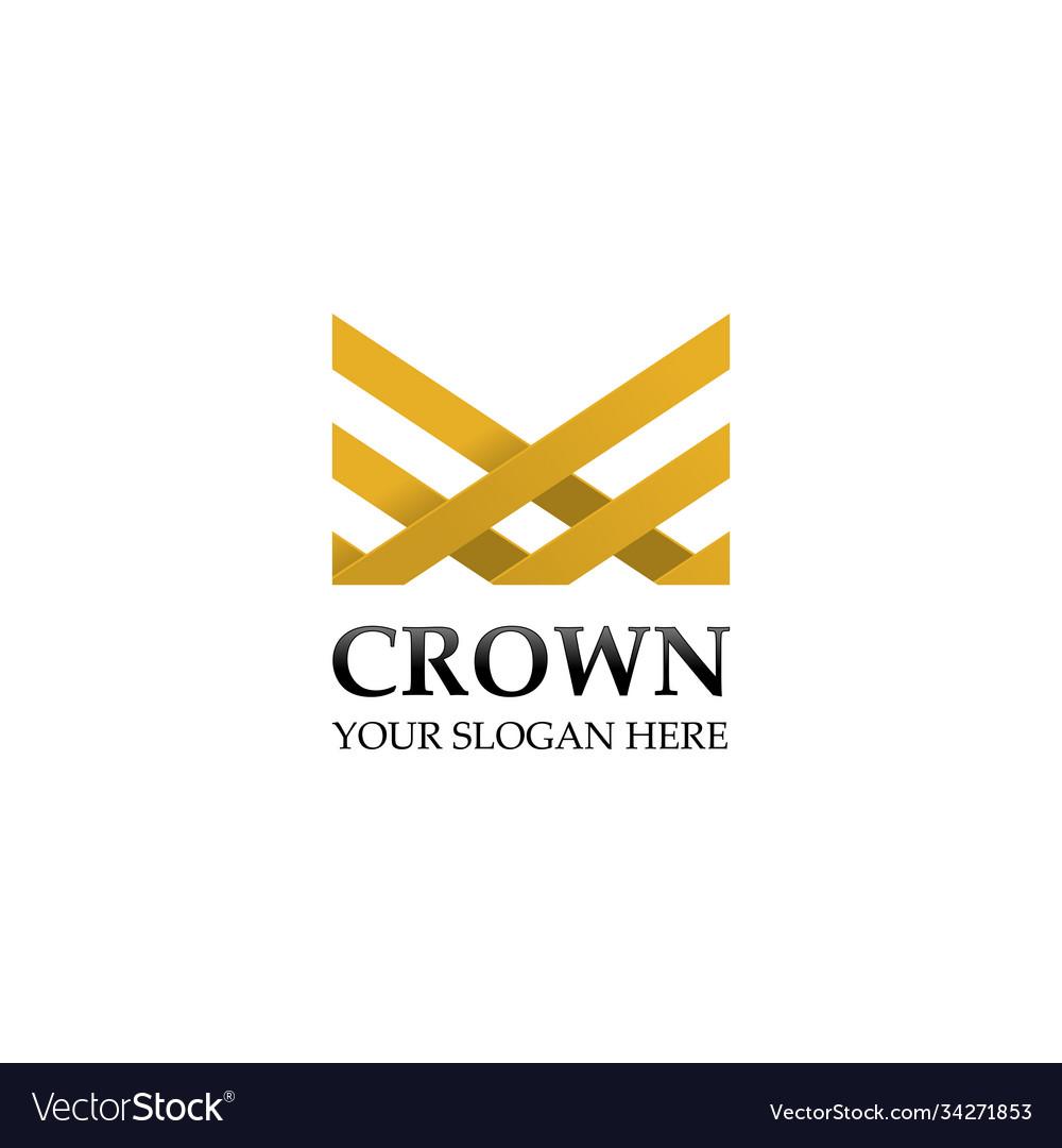 Creative crown logo design template