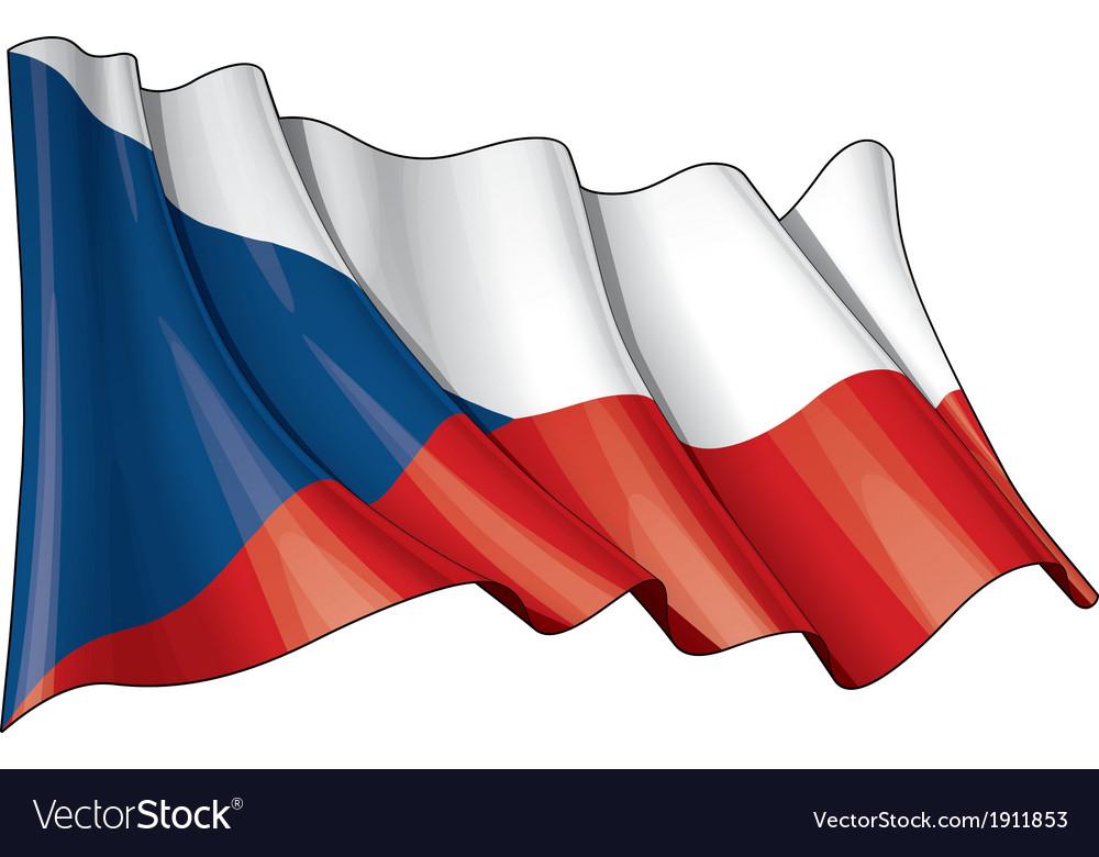 Czech republic flag grunge
