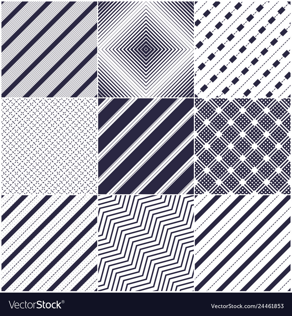 Minimal lines seamless patterns set abstract
