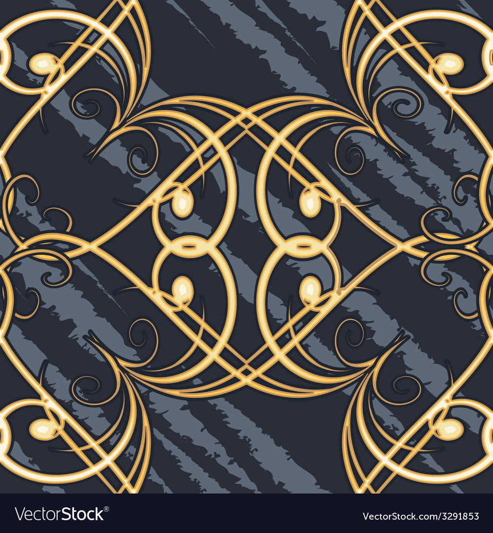 Seamless swirls retro pattern