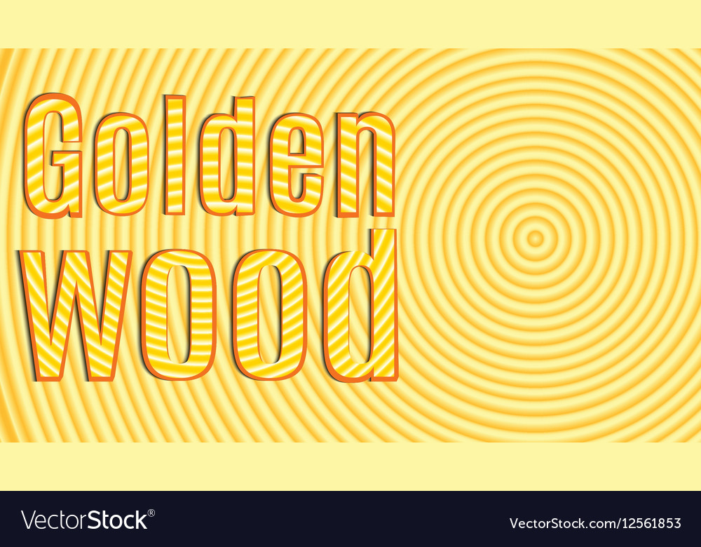 Slice tree with inscription Golden Wood