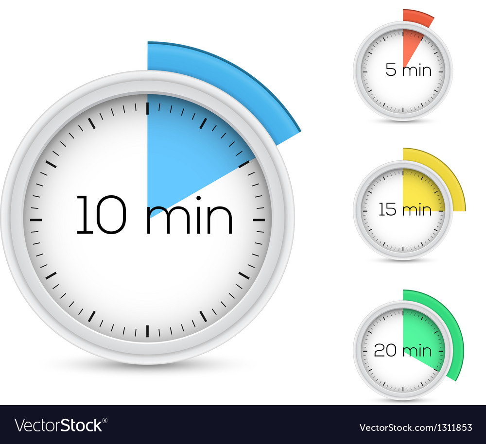 Timers collection vector image
