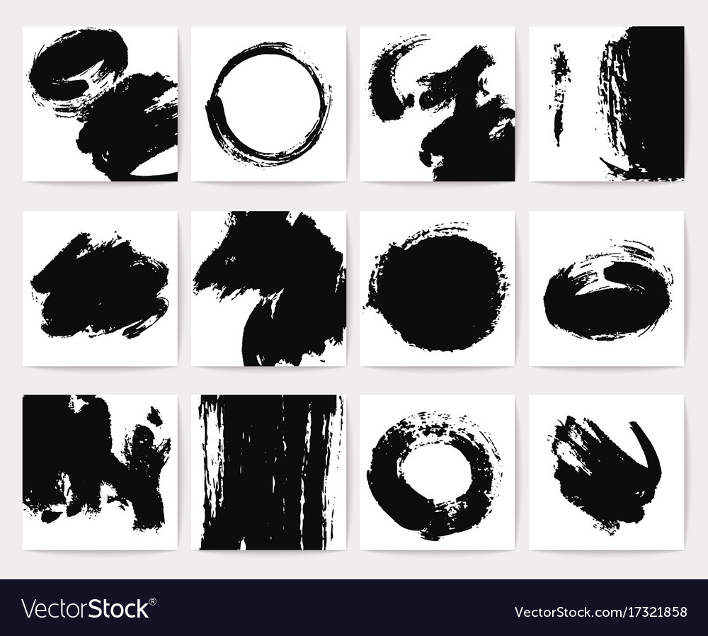 Abstract dirt backgrounds with grunge brush vector image