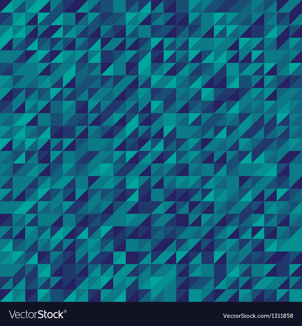 Blue abstract triangles mosaic background