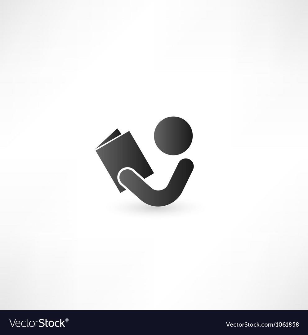 Book Reader Sign Icon vector image