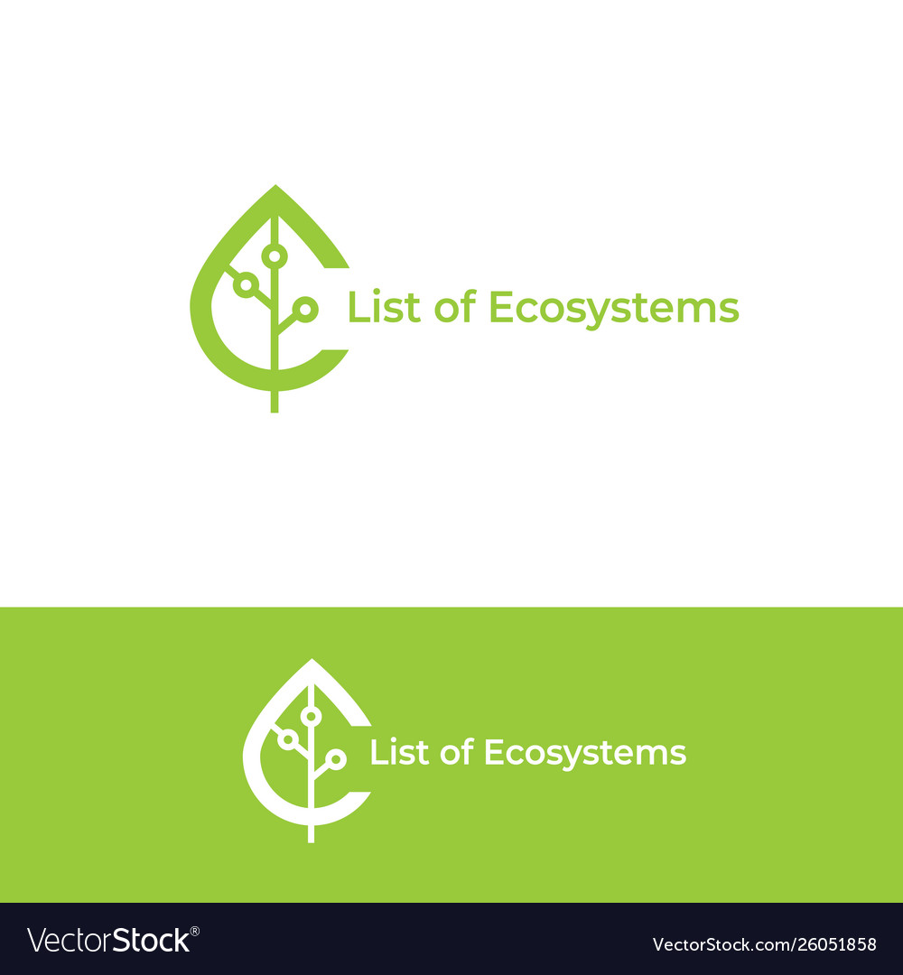 Ecosystem logo leaf icon