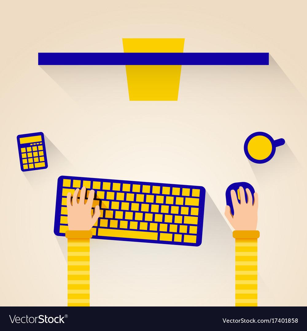 Modern design concept of creative office workspace