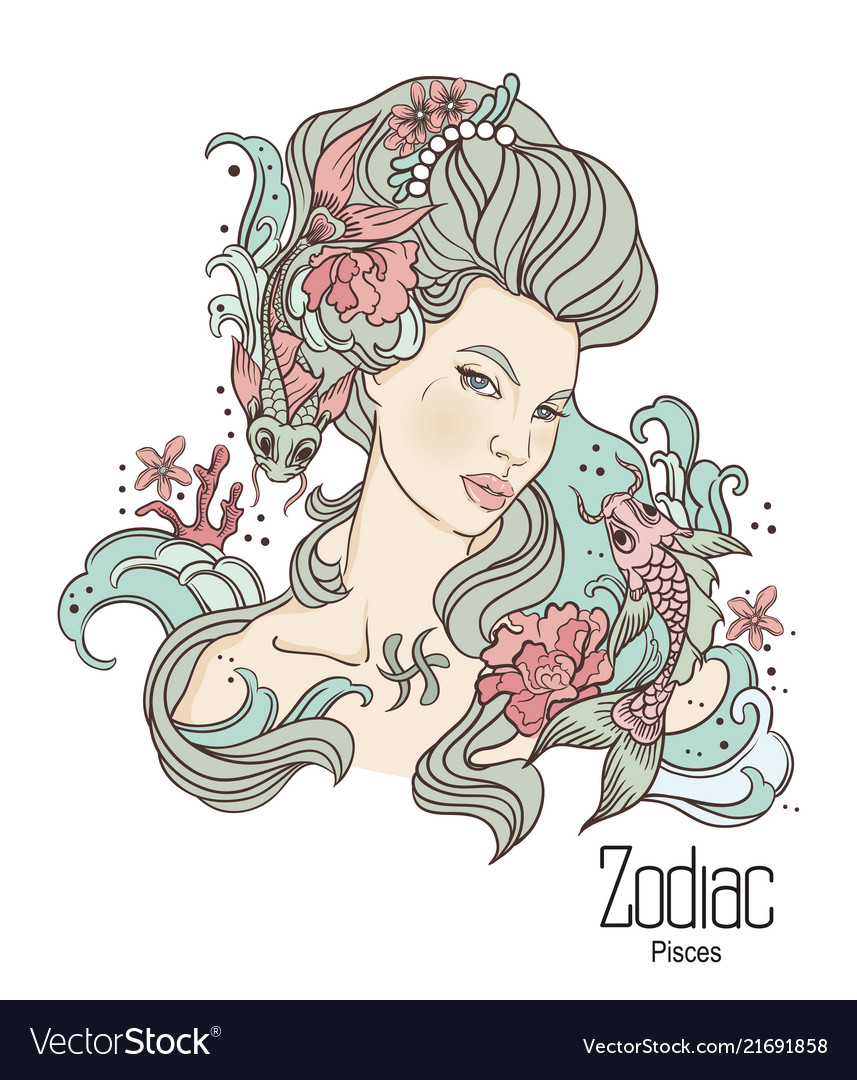 Zodiac pisces as girl