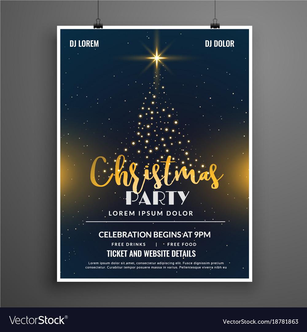 Christmas Contest Flyer.Creative Christmas Party Event Flyer Poster