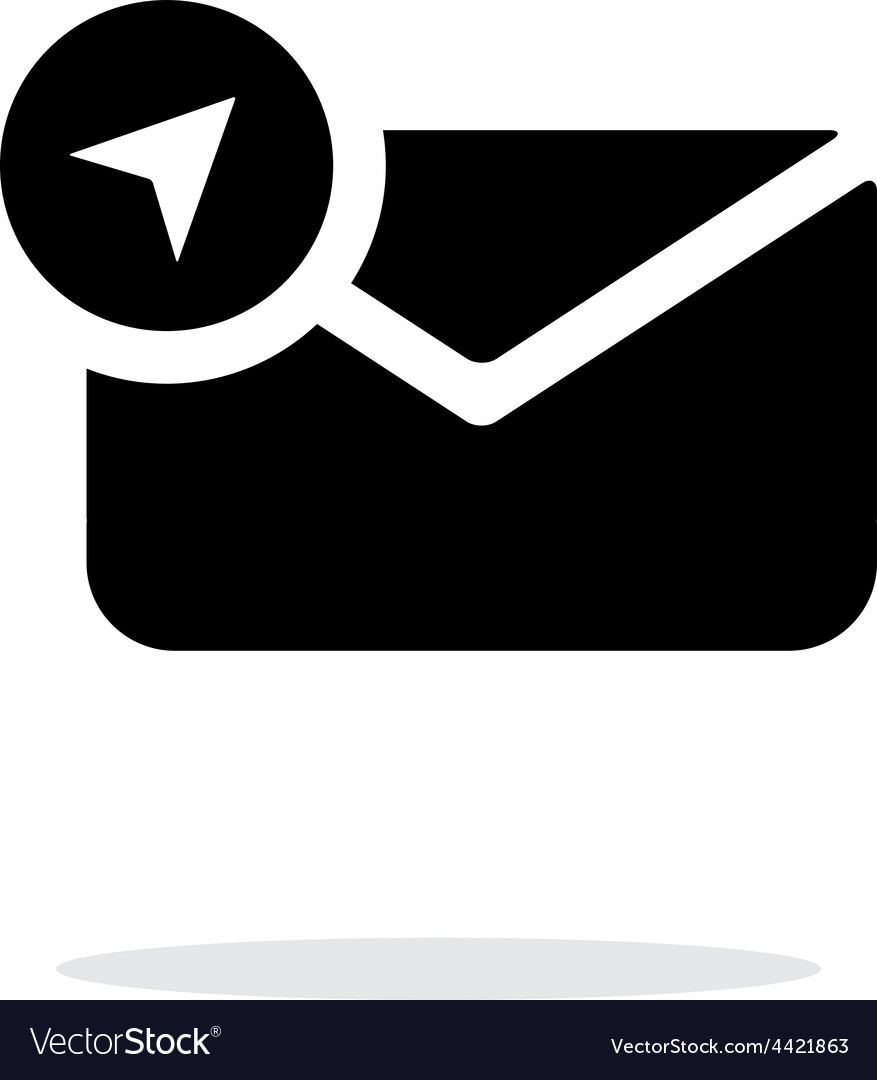 Location mail icon on white background