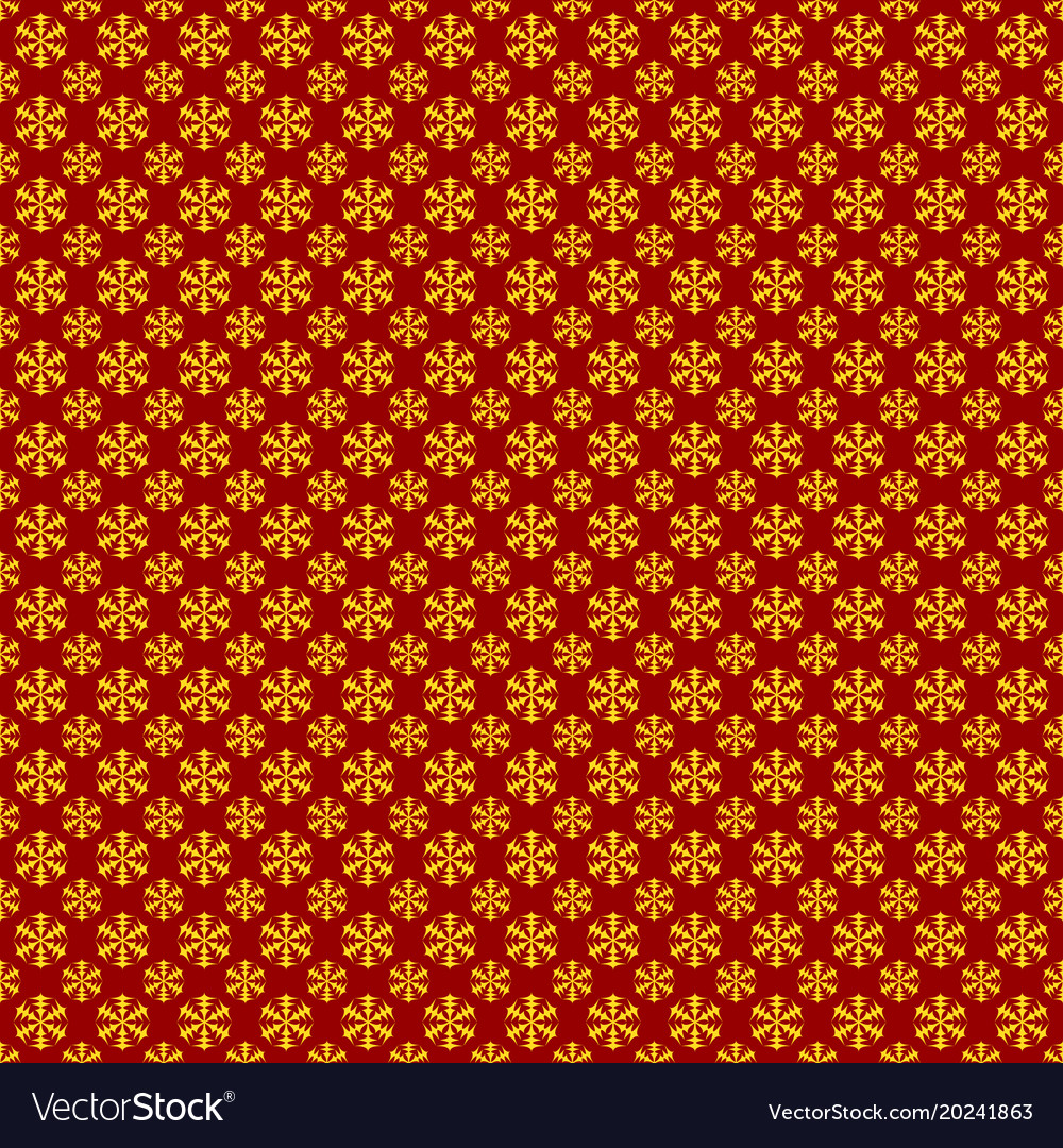 Seamless geometric snowflake pattern wallpaper vector image