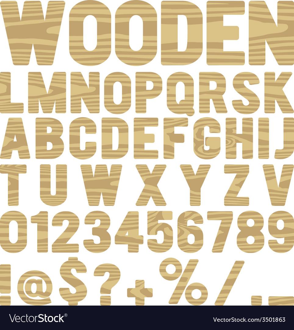 Wooden type