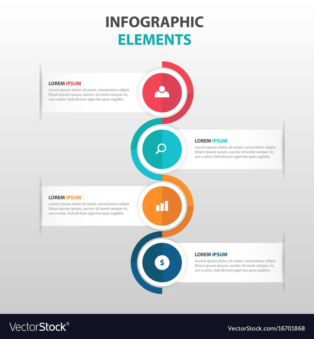 Abstract label business infographics elements