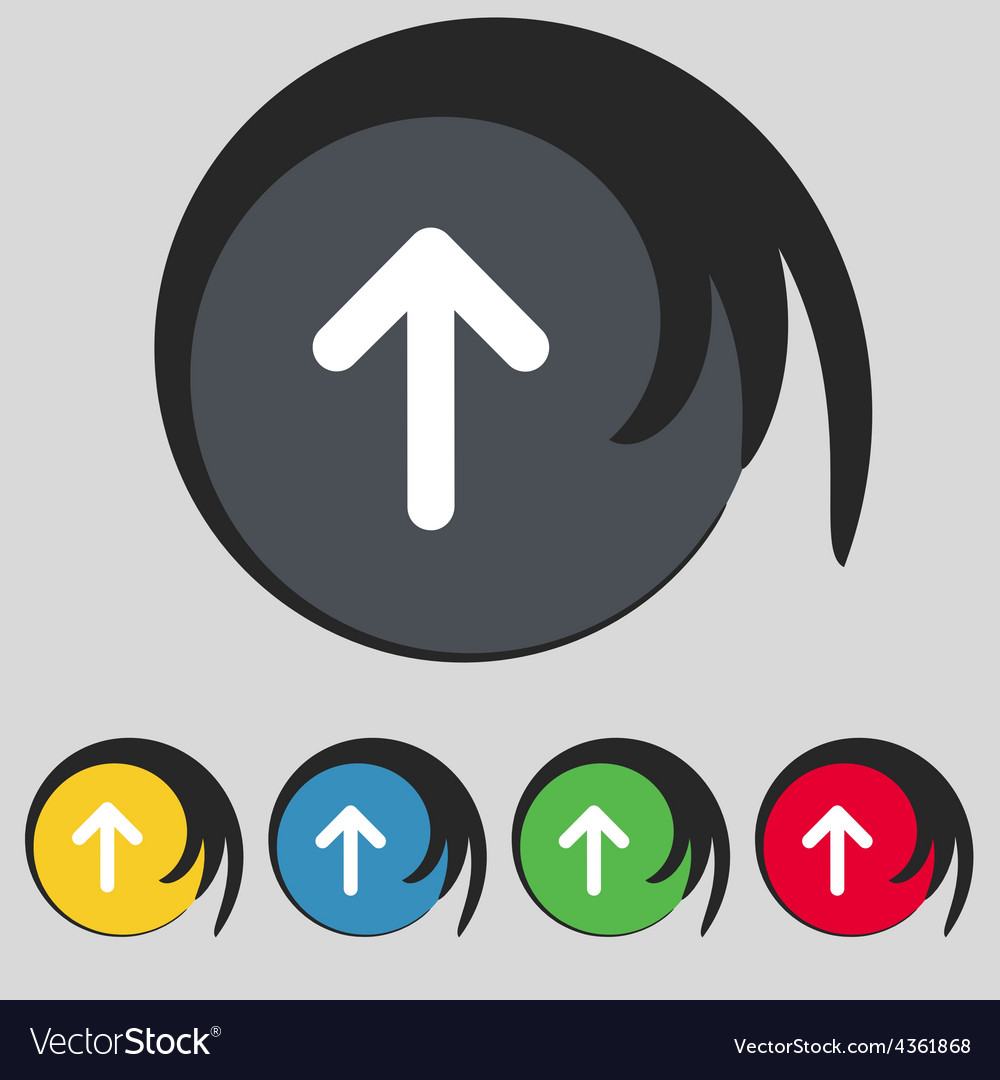 Arrow Up This Side Up Icon Sign Symbol On Five Vector Image