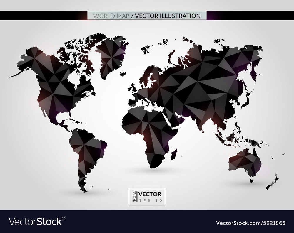 Black crystal world map royalty free vector image black crystal world map vector image gumiabroncs Image collections