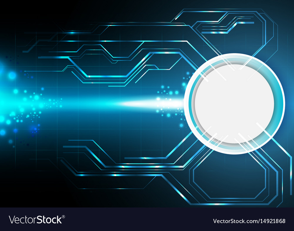 Blue Electronic Technology Background Royalty Free Vector