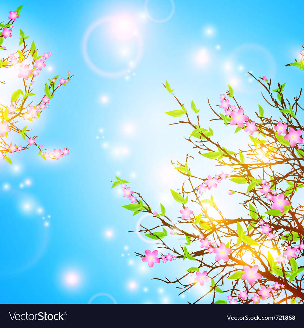 Bright spring background