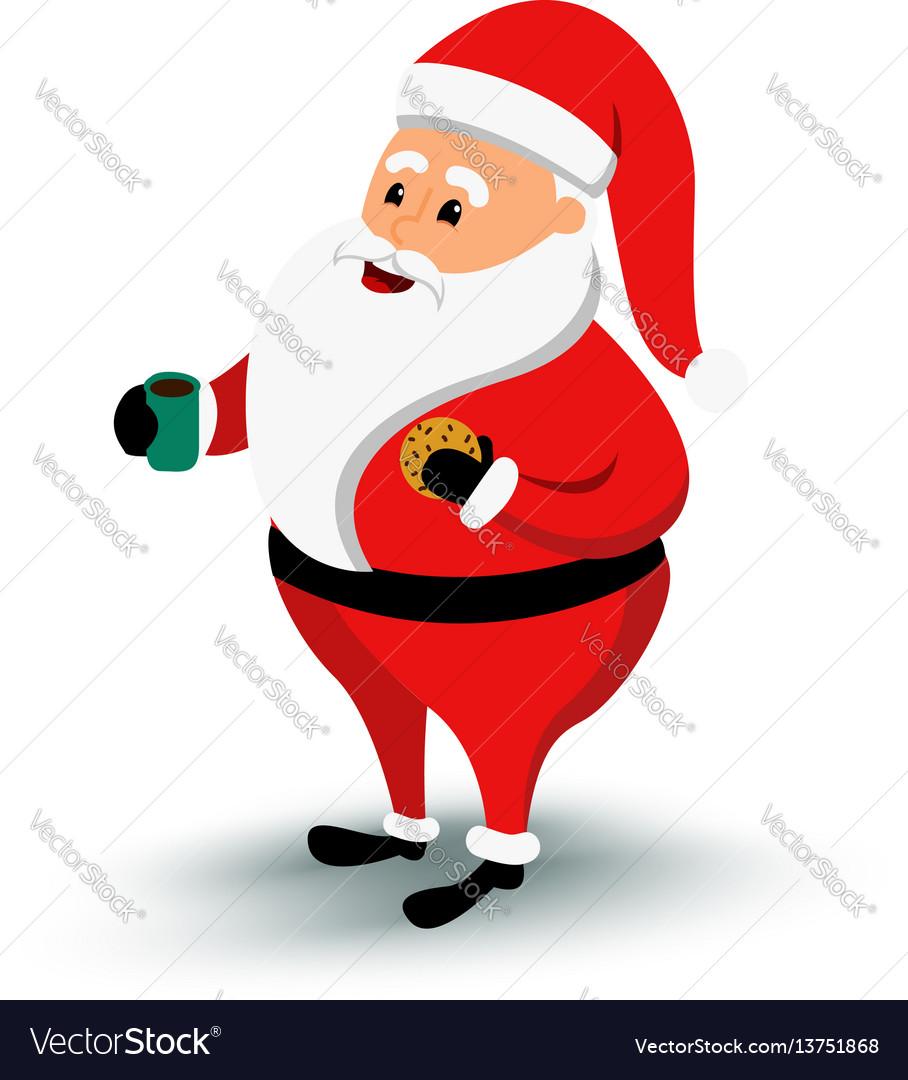Christmas smiling santa claus character cartoon