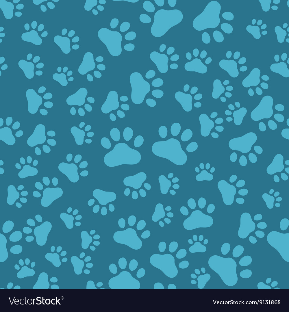 Dog Paw Print Seamless anilams pattern