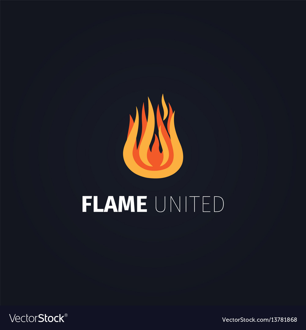 Flame united logo template