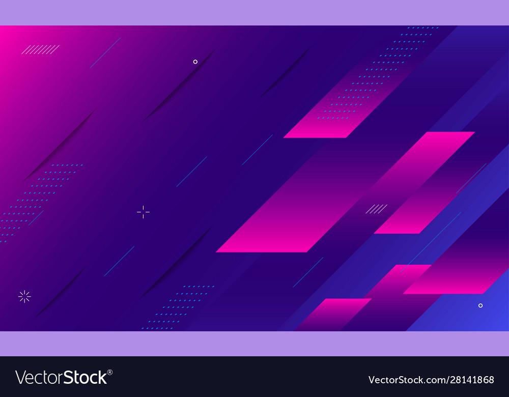Futuristic gradient geometric shape background