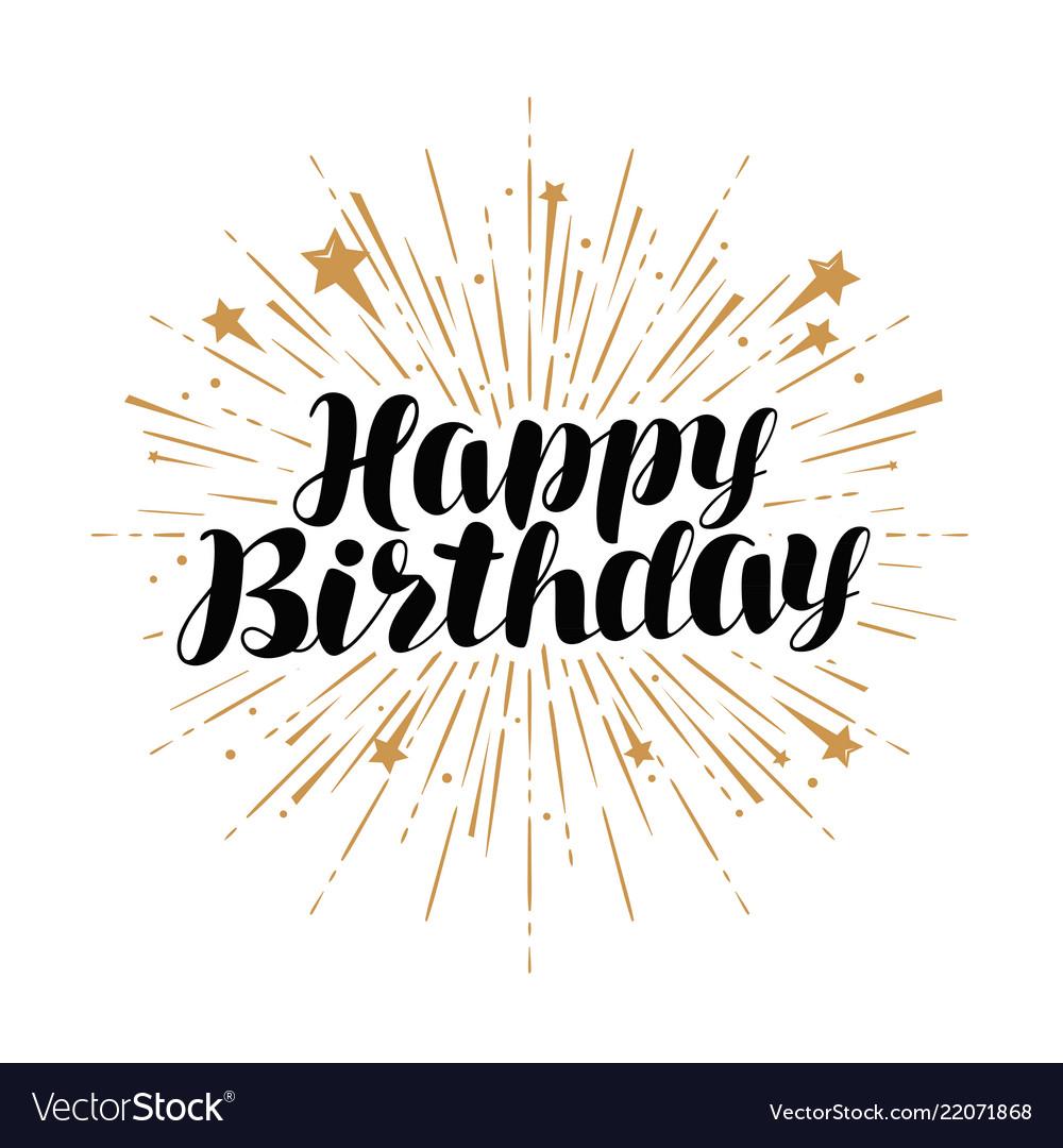 Happy birthday greeting card handwritten