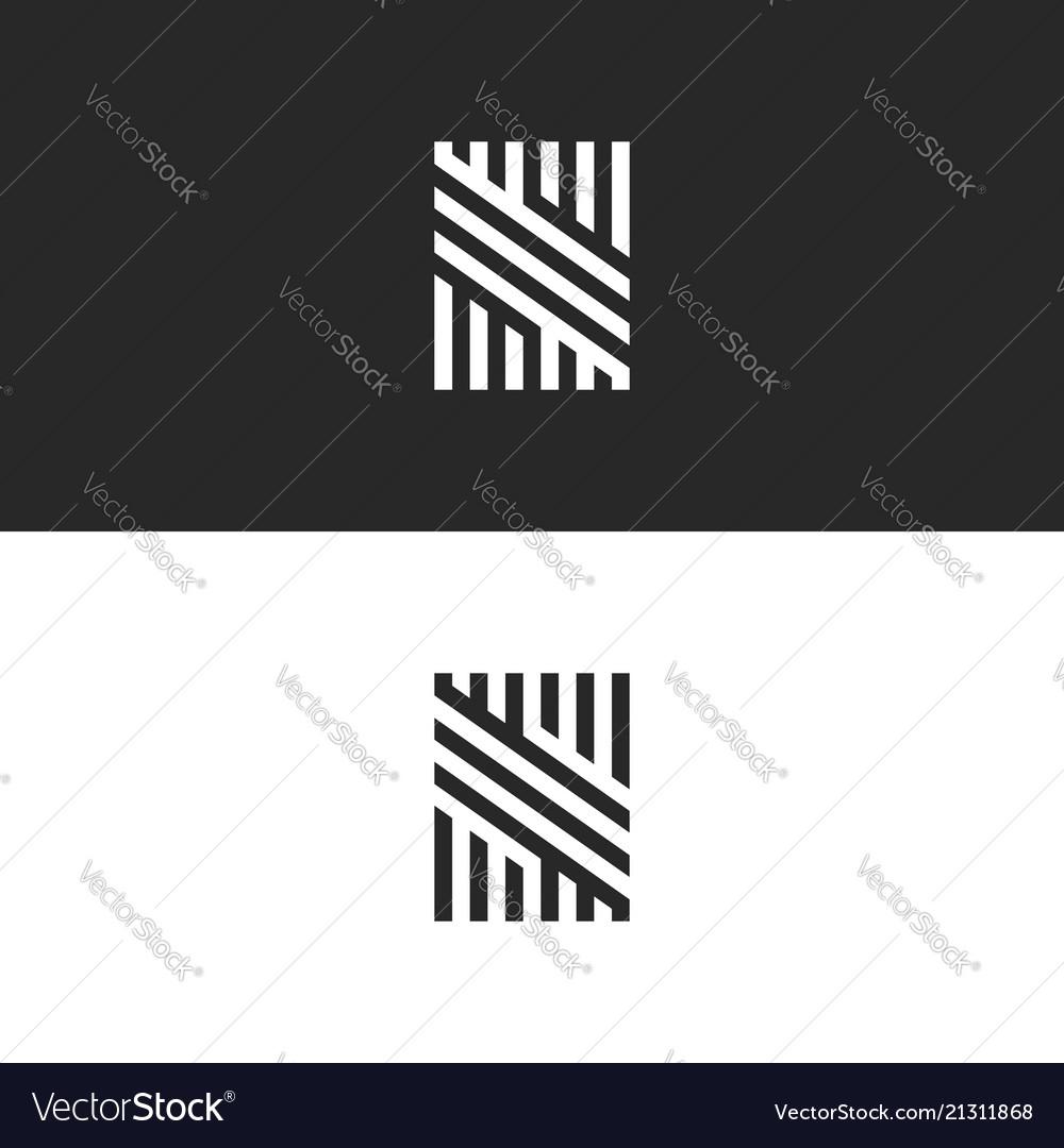 Modern hipster monogram s letter logo creative