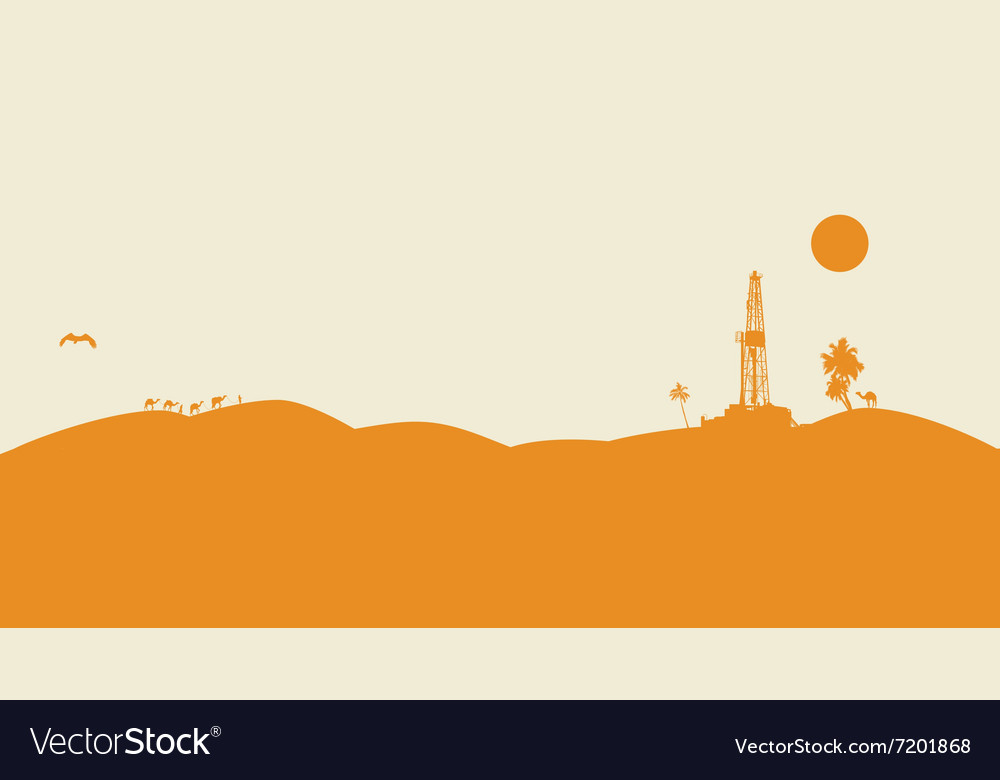 Oil drilling background