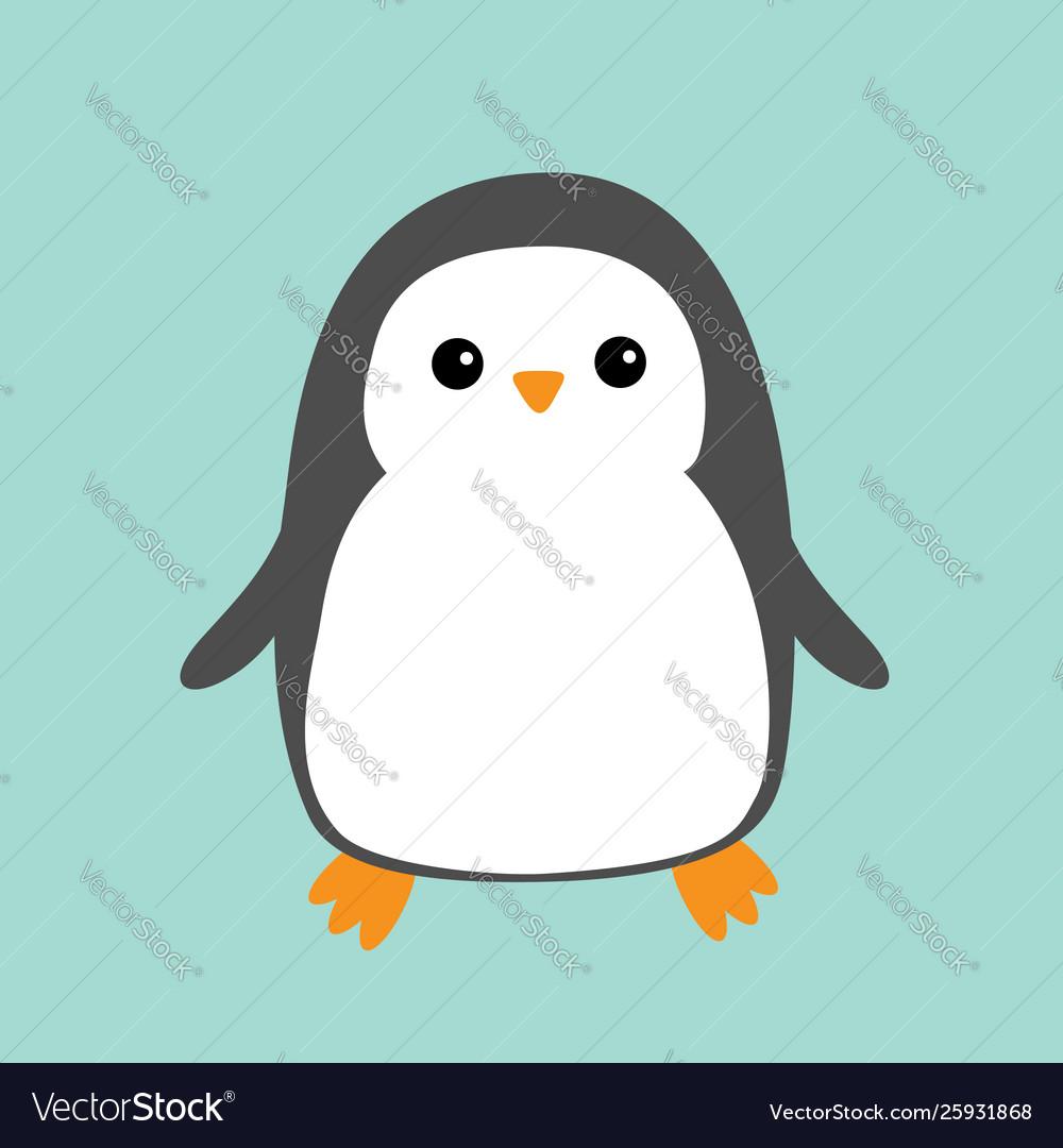 Penguin cute cartoon character arctic animal