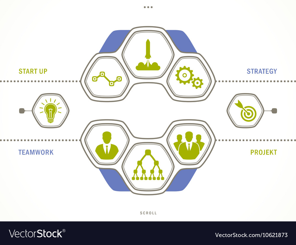 Business concept - start up infographic vector image