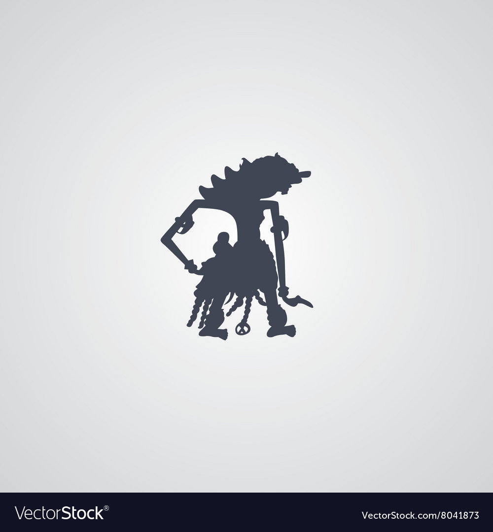 Indonesia wayang puppet vector image