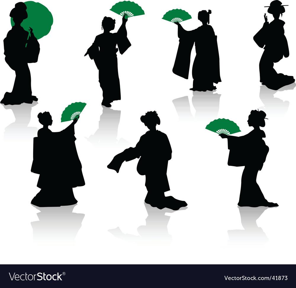 Japan dance vector image