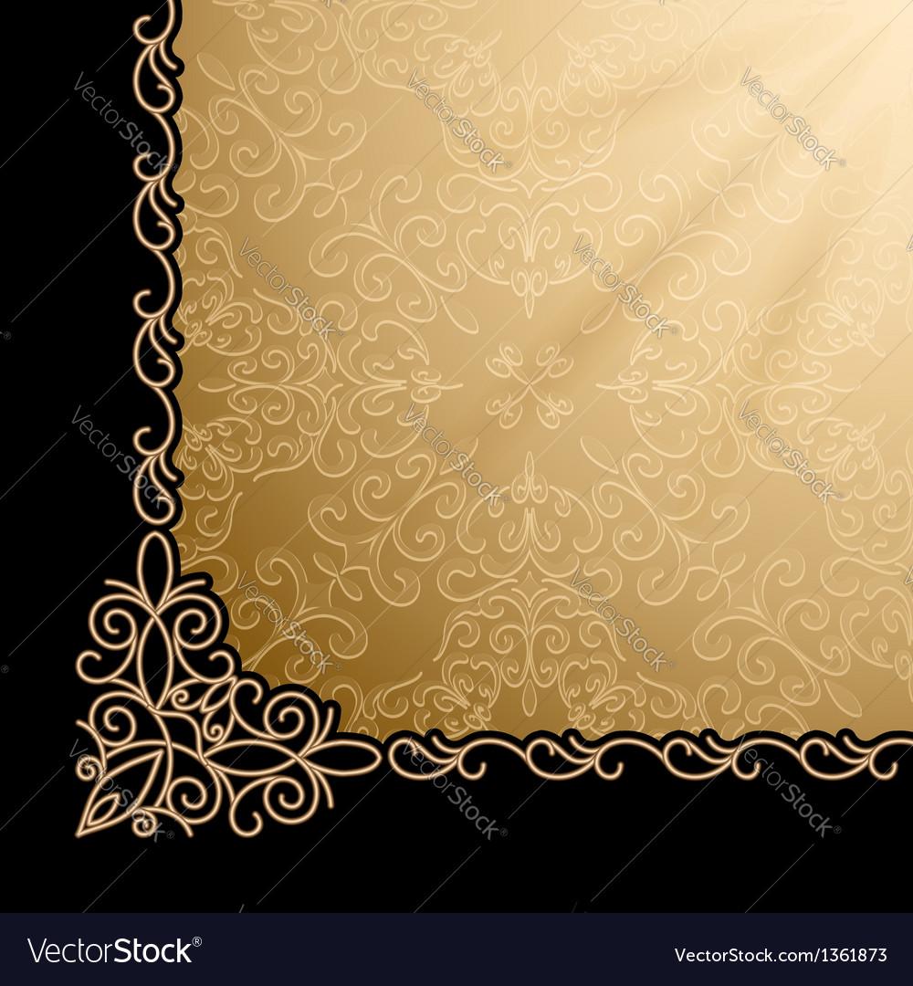 Vintage gold corner background