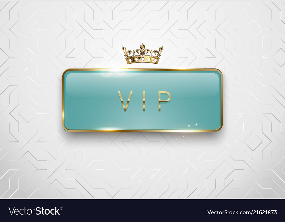 Vip light green glass label with golden frame