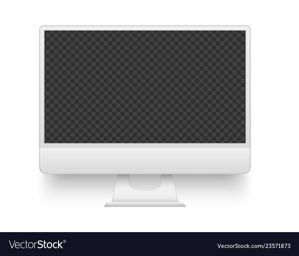 White pc screen mockup electronics device
