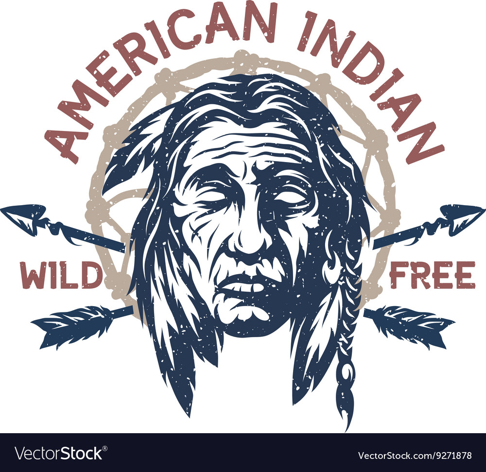 American Indian T Shirt Graphic Royalty Free Vector Image