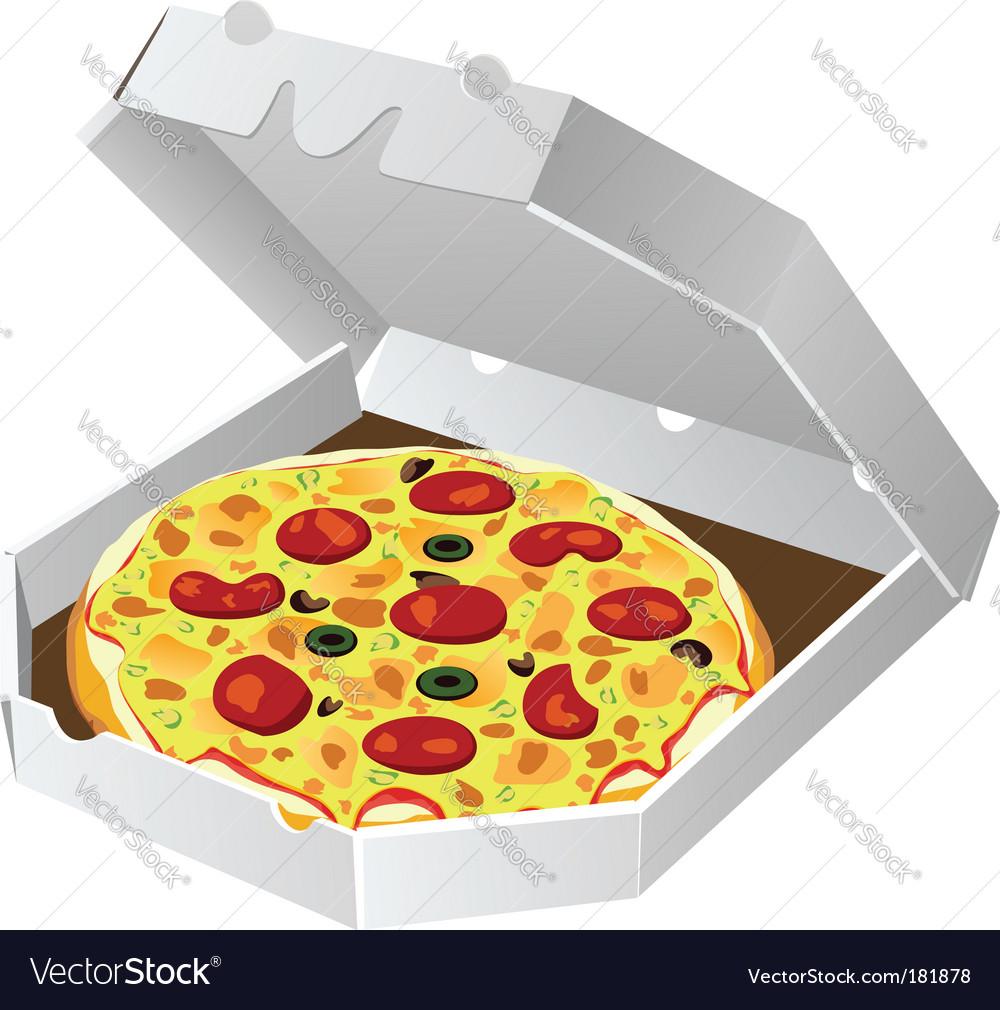 Italian pizza vector image