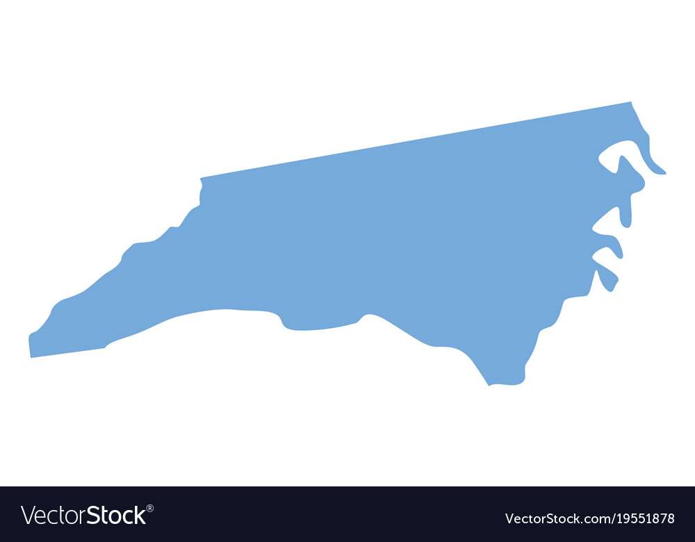 North Carolina State Map Royalty Free Vector Image