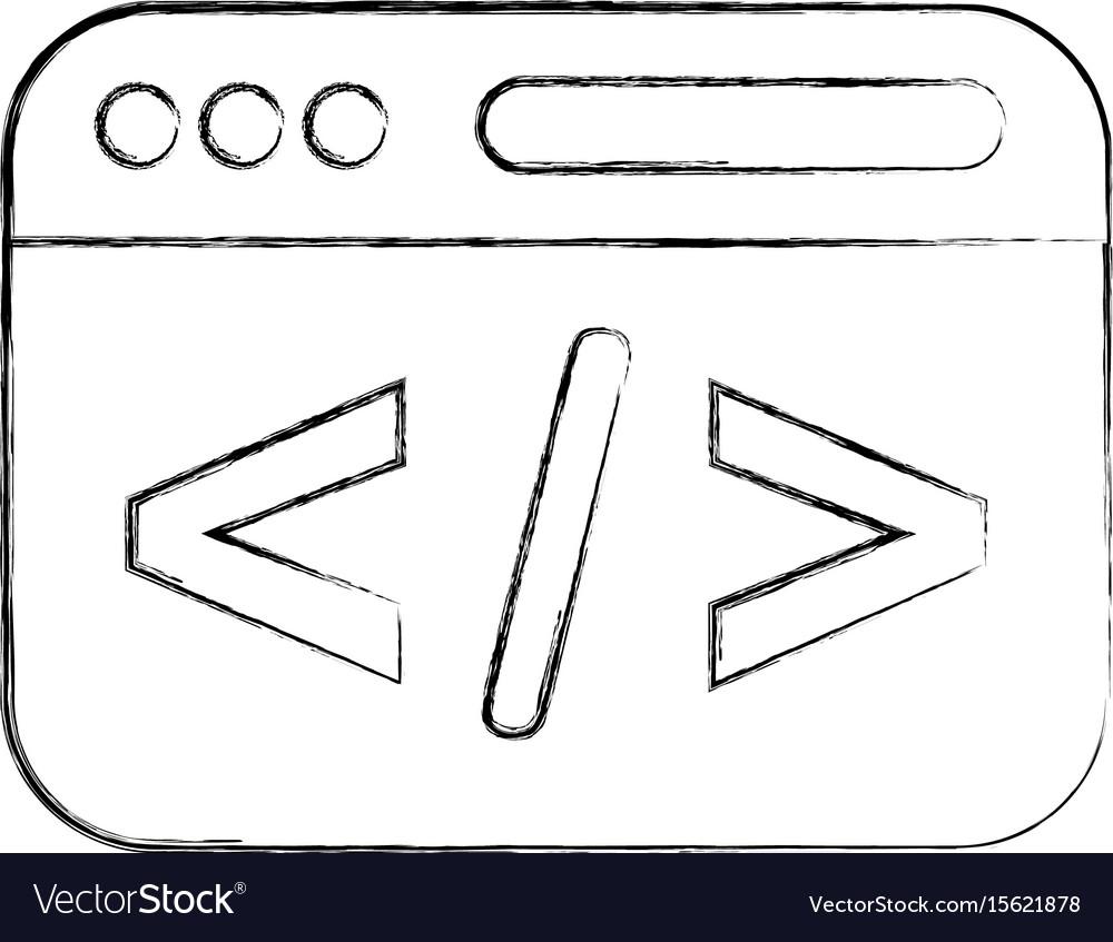Template web programming language vector image