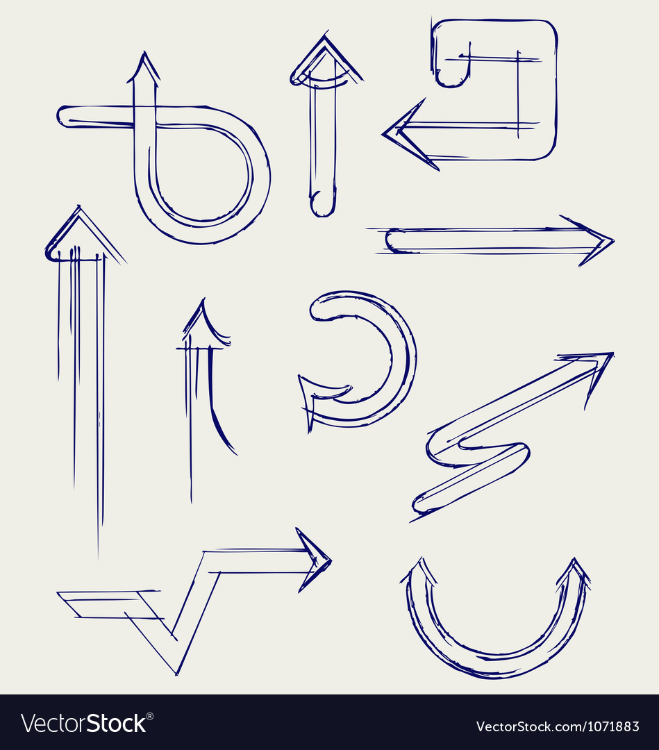 Arrows vector image