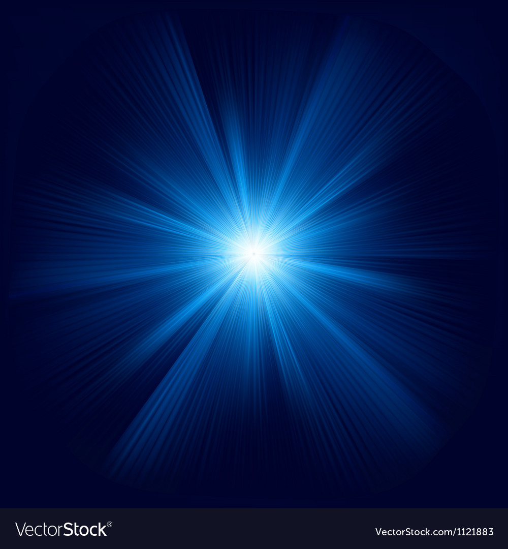 Blue color design with a burst EPS 8