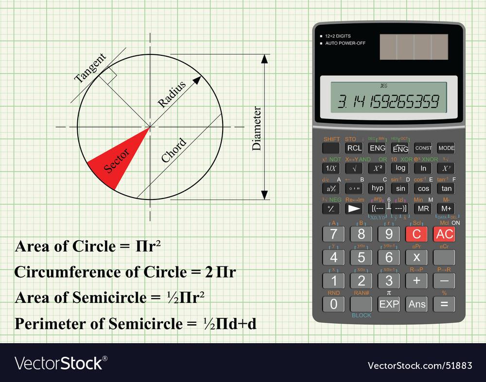 Circle geometry vector image
